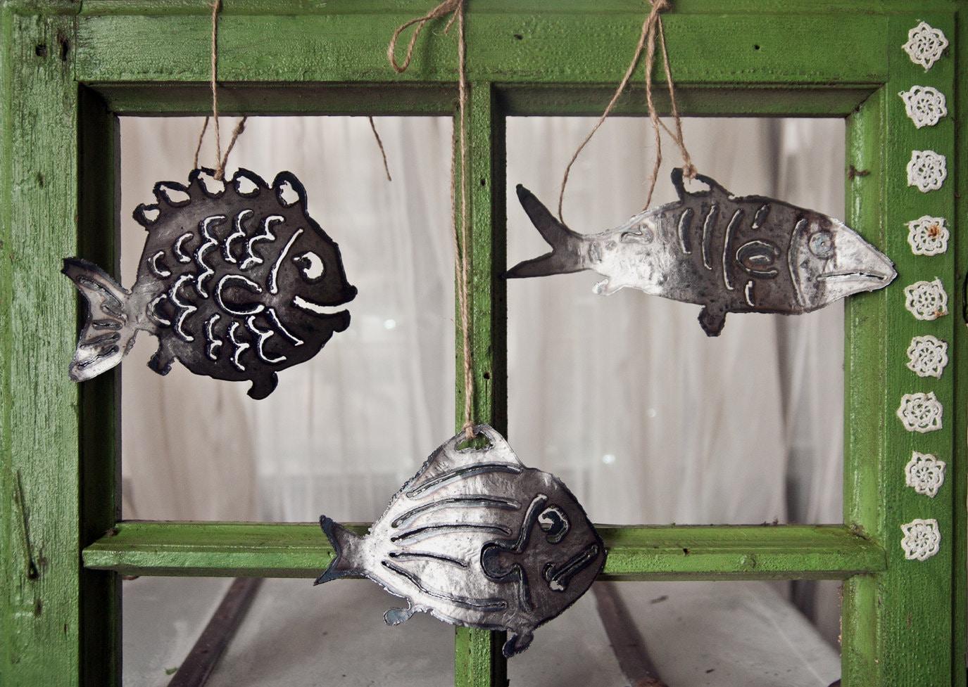 Metal Outdoor fish Decor Garden Art Steel by ...
