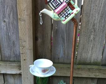 "Teapot and Teacup, Garden Decor ""Tea Room"""