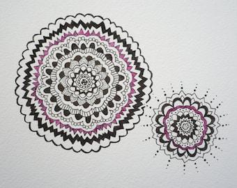 Hand drawn. Ink Pattern Drawing.