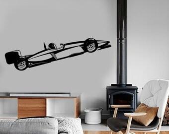 Wall Vinyl Decal Formula 1 Karting Racing Car Speed Kart Amazing Decor 1328dz