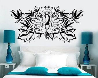 Wall Vinyl Decal Birds Pattern Fantasy Fairytale Amazing Bedroom Decor 1371dz