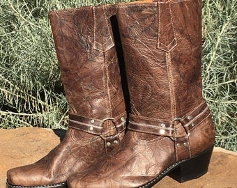 Handcrafted leather riding boots