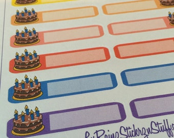 Birthday Stickers for the Monthly layout in the Compact and Classic sized Passion Planners
