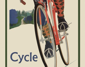 Bike Iowa Riding Bicycle Cycle Roads of America Sport Vintage Poster Repro Free S/H in USA