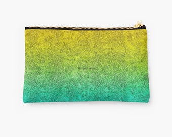 Ocean Sunrise Glitter Gradient Carry-All Pouch, 2 Sizes Available!