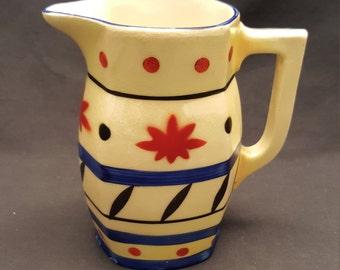 Vintage Czechoslovakia 1/3 L Milk Pitcher Vase