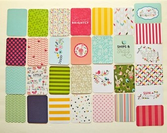 """LIVE BRIGHTLY Edition - 42 Cards - Becky Higgins Project Life Value Kit (Partial): 3x4"""" & 4x6"""" Journaling Cards - Imaginisce Welcome Spring"""