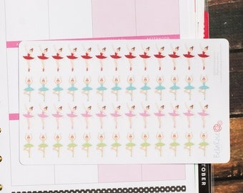 Dance/Ballet Planner Stickers, for use in Erin Condren Planners, Happy Planner Stickers, Planner Stickers