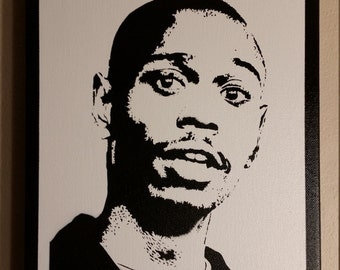 Dave Chappelle  Stencil Spray Painting  12 x 9 inches