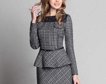 689, Skirt suits 2 subject: jacket, skirt. Suit fabrics