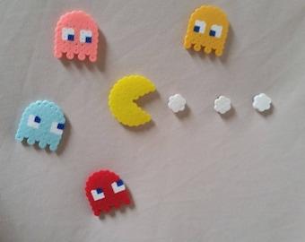 Perler Bead~Pacman Magnet Set