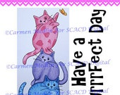 Kitten Stack DIGITAL STAMP Download - Carmen Medlin for SCACD