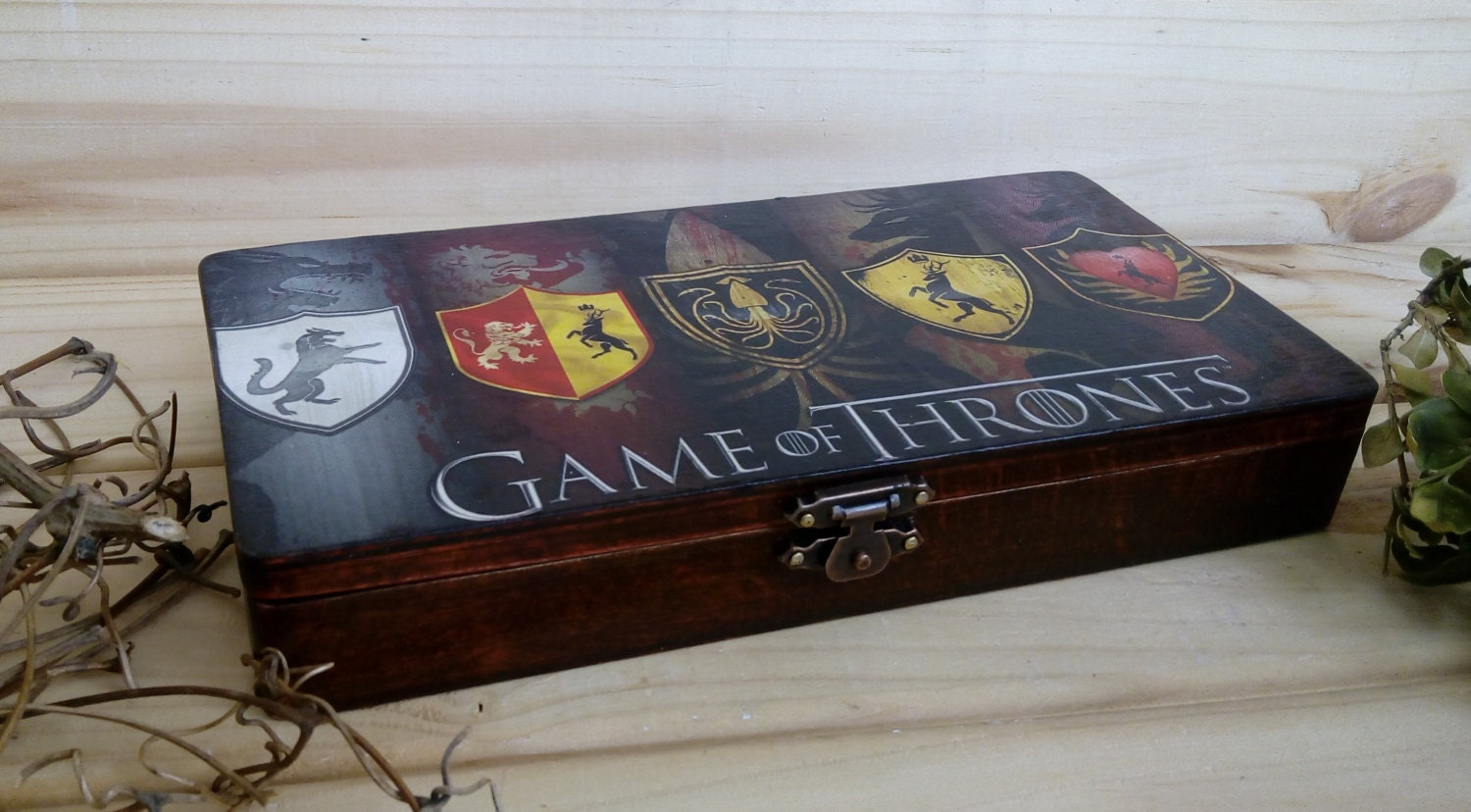Game of thrones box gift for men wooden box money box gift for for Game of thrones gifts for men