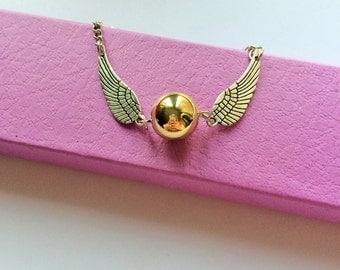 Harry Potter Golden Snitch Bracelet / Jewellery  / Jewelry / Handmade / Gift Box / Fantastic Gift