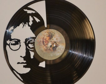 The Beatles John Lennon Vinyl Record Wall Art