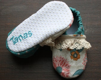Vintage Garden Shoes, baby shoes, baby gift, baby shower
