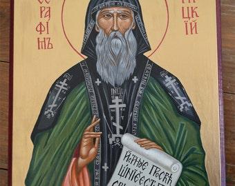 Eastern Orthodox Icon Painting. Seraphim of Vyritsa