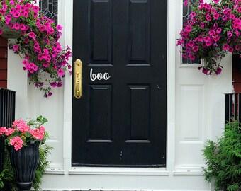 Boo Door Decal - Halloween Door Decal