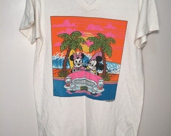 Vintage Mickey and Minnie Mouse Vacation Shirt // One Size // Free shipping