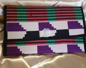 Kente print Envelope clutch