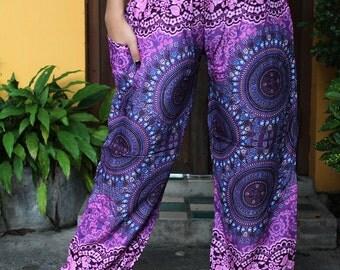 Harem pants Hippie Women Pants Boho Style Flowers Pants design