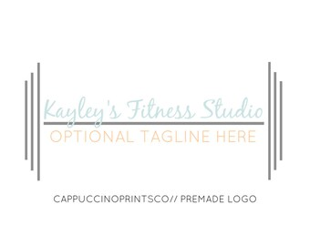 Premade Logo Design // Modern Weight Fitness Logo // Photography Logo // Website Logo // Business Logo