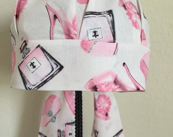 Women's Cancer Hat - Chemo Hat - Hair Loss - Head Coverings - Scrub Hat - Chemo Comfort - Pink Shoes and Purses