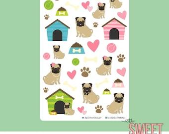 Decorative Planner Stickers   Pug Love