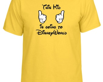 This kid is going to DisneyWorld custom Mickey Gloves tshirt