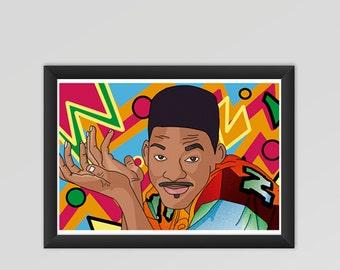 Fresh Prince instant download printable art, Fresh Prince poster, Will Smith poster, Will Smith printable, Will Smith instant download