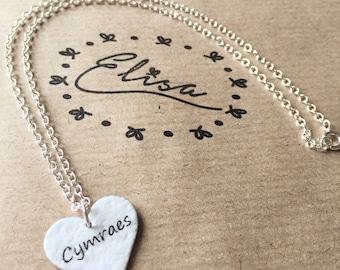Cymraes Enamel Heart Necklace