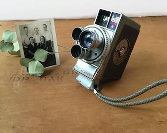 Vintage Camera, Dejur Electra, 3 lens, 8mm, Wind Up, Movie Camera, Camera Collection, Collectible, Rare