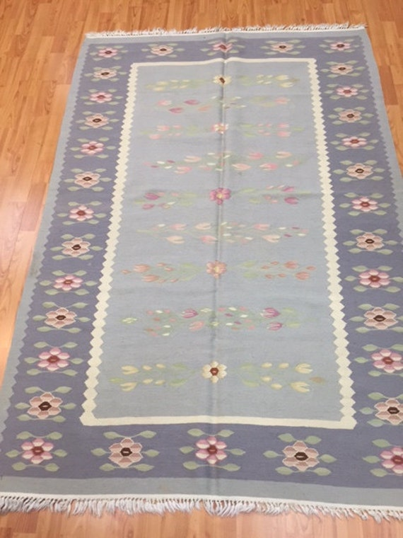 4' x 6' Chinese Kilim (Kelim) Two-Sided Oriental Rug - Hand Made - 100% Wool - Flat Weave