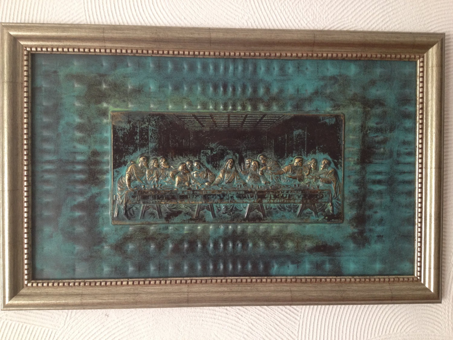 Bronze Wall Decor The Last Supper Bas Reliefr Metal Wall