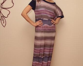 Women's one shoulder  Maxi Dress /  Maxi Dress / Asymmetrical  long dress