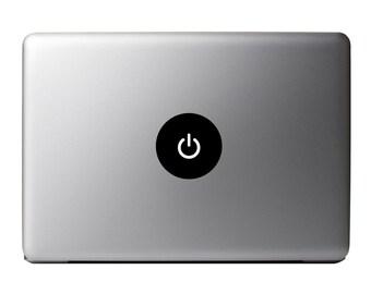Macbook Decal - Power Button Vinyl Sticker