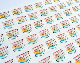 Reading Stickers, Reading Tracker, Book Tracker Stickers, College Stickers, Study Stickers for Erin Condren Planner, Happy Planner Stickers