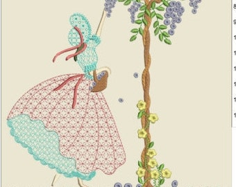 """Southern belle machine embroidery download  3 different sizes (8x8 """"6X6""""5X5"""" hoop)"""