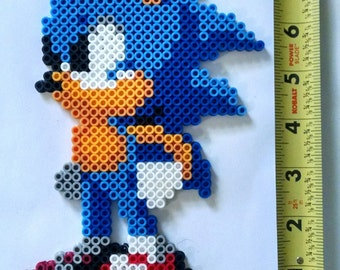 SONIC Smash Brothers/ Sonic the Hedgehog Bead Sprite + Lanyard