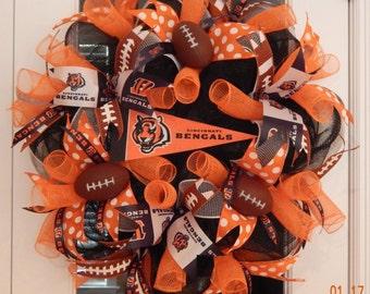 Cincinnati Bengals Deco Mesh Wreath