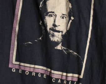 George Carlin Concert T Shirt! Authentic Vintage 1981! George Carlin ~ A Place For My Stuff Tour 1981  Professional Comedian
