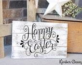 Hand Lettered Happy Easter SVG Cut File