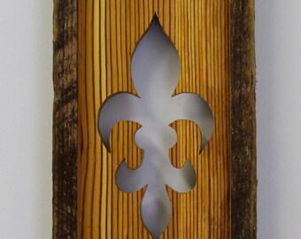 Fleur de Lis Hand Cut Wood Hanging