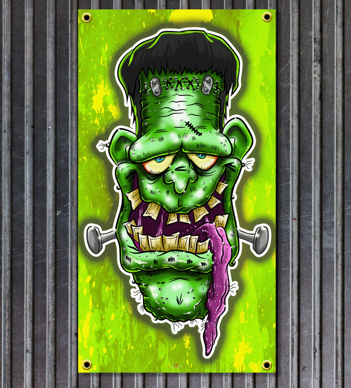 Weirdo Frank Rat Fink Style Vinyl Garage Or Man Cave Banner