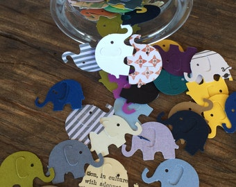 Elephant Punches, Die Cuts and Confetti