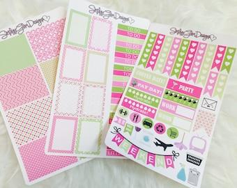 Lily Pulitzer Inspired Themed Weekly Sticker Kit | Erin Condren & Plum Paper Planner