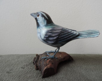 Heritage Industries Hand Carved and Painted Warbler