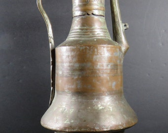 "Antique Vgt Middle Eastern 14.5"" Copper Brass Water Coffee Tea Jug Reduced"