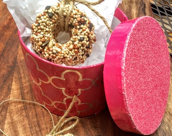 Bird Seed Wreath Gift Box, bird seed ornament, any occasion!