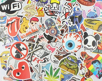 50 Vinyl Sticker Bomb Pack Laptop Stickers Car Stickers Bike Stickers
